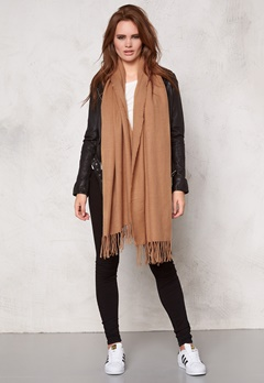 Pieces Kial Long Scarf Tan Bubbleroom.se