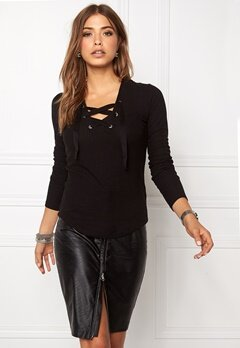 Pieces Nicoline Blouse Black Bubbleroom.se