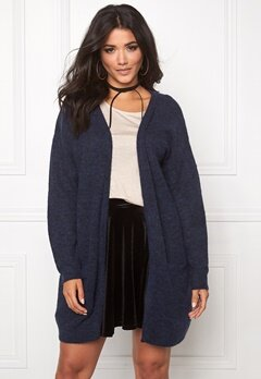 Pieces Renee Wool Knit Cardigan Navy Blazer Bubbleroom.se