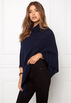 Pieces Rikki Wool Poncho Navy Bubbleroom.se