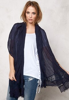 Pieces Tesbea Long Scarf Navy Blazer Bubbleroom.se