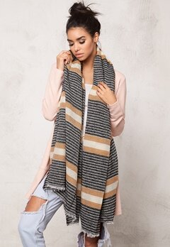 Pieces Vimma long scarf Whitecap Gray Bubbleroom.se