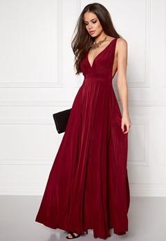 Goddiva Pleated Oscar Dress Wine Bubbleroom.se