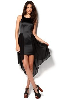 Lipsy Pleated Shift Dress Black Bubbleroom.se