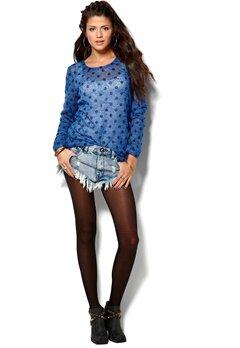 Rut & Circle Bea Dot Knit Spicy Blue Bubbleroom.se