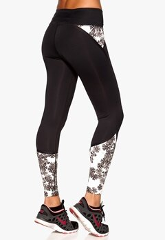 Röhnisch Shape Jolie 7/8 Tights Black/Ice Bloom Bubbleroom.se