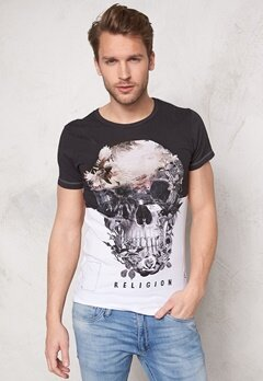 Religon Skull Illusion SS Tee White Bubbleroom.se