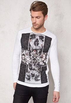 Religon The Night ls Tee White Bubbleroom.se