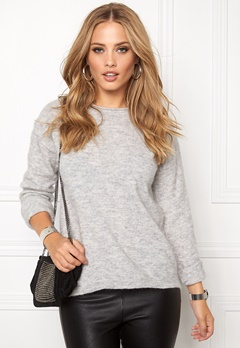 Pieces Renee Is Wool Knit Light Grey Melange Bubbleroom.fi