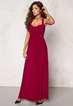 Chiara Forthi Rochelle Maxi Dress Dark Raspberry Bubbleroom.se