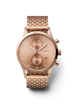 TRIWA Rose Lansen Chrono 1414 Rose Brace Bubbleroom.se
