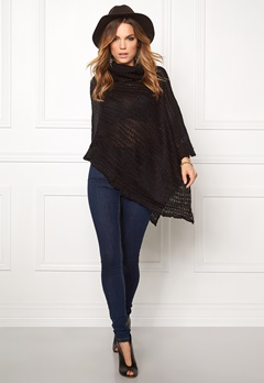 Rut & Circle Beate Poncho Black Bubbleroom.fi