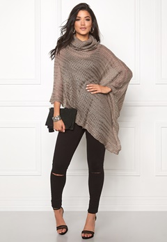 Rut & Circle Beate Poncho Grey Bubbleroom.se