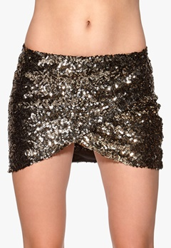 Rut & Circle Jossan Sequine Skirt 051 Black/Gold Bubbleroom.se