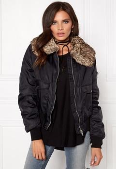 Rut & Circle Kate Fur Collar Jacket 001 Black Bubbleroom.se