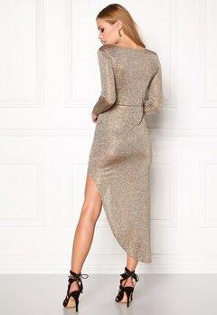 Rut & Circle Kelly wrap dress 513 Gold Bubbleroom.se