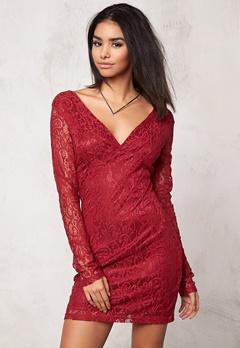 Rut & Circle Lena Dress 874 Wine Red Bubbleroom.se