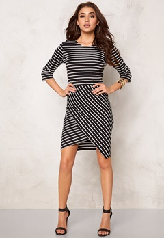 Rut & Circle Lisa Dress Black Stripe Bubbleroom.se