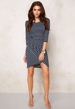Rut & Circle Lisa Dress Blue Stripe Bubbleroom.se