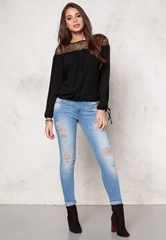 Rut & Circle Lornie Lace Blouse Black Bubbleroom.se