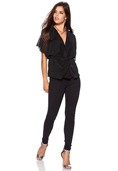 Rut & Circle Melanie Blouse 001 Black Bubbleroom.se
