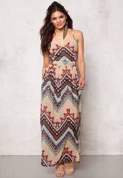 Rut & Circle Millie Long Dress Soft Comb Bubbleroom.se