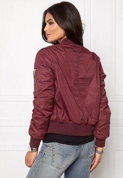 Rut & Circle New Kate Bomber Jacket Bordeaux Bubbleroom.se