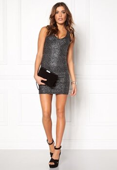 Rut & Circle Nora metallic dress 052 Black/Silver Bubbleroom.se