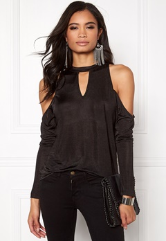 Rut & Circle Nora off shoulder top 001 Black Bubbleroom.se