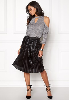 Rut & Circle Nora off shoulder top 501 Silver Bubbleroom.se