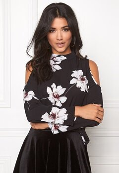 Rut & Circle Sonya Of Shoulder Blouse Black Bubbleroom.se