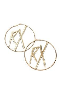 RX Halo Earrings Gold Bubbleroom.se