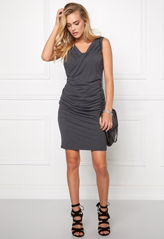 SOAKED IN LUXURY Rana Dress Dark Grey Melange Bubbleroom.se