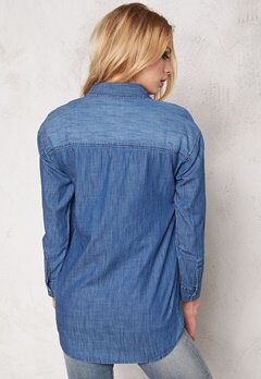 Sally & Circle Josie Denim Shirt Md Wash Bubbleroom.se