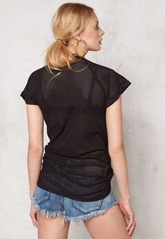 Sally & Circle Moa Basket Long Tee Black Bubbleroom.se