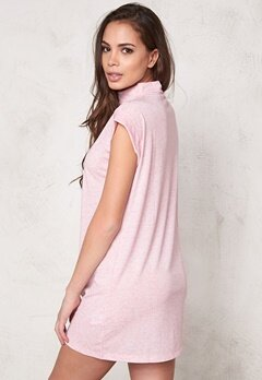 Sally & Circle Perla T-shirt Dress Pink Bubbleroom.se