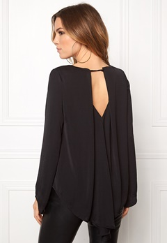 VILA Samina L/S Top Black Bubbleroom.fi