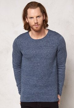 SELECTED HOMME Gary Crew Neck True Navy Bubbleroom.se