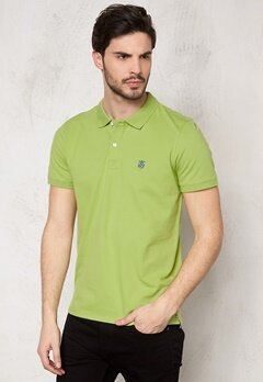 SELECTED HOMME Aro SS Embroidery Polo Leaf Green Bubbleroom.se
