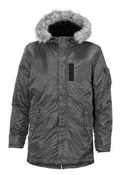 SELECTED HOMME Chad Parka Gunmetal Bubbleroom.fi