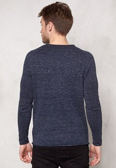 SELECTED HOMME Clash Crew Neck Dark Blue Bubbleroom.se