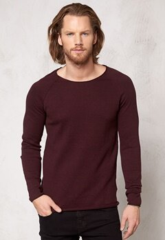 SELECTED HOMME Clash Crew Neck Winetasting Bubbleroom.se