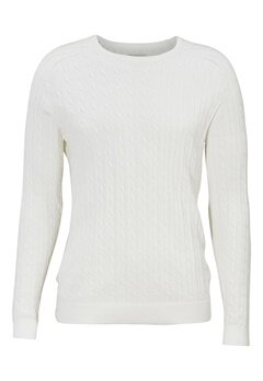 SELECTED HOMME Clay Cable crew neck Marshmallow Bubbleroom.se