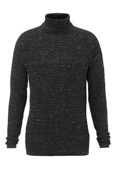 SELECTED HOMME Mattew Roll Neck Black Bubbleroom.fi