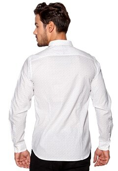 SELECTED HOMME One Leth Shirt Bright White Bubbleroom.se