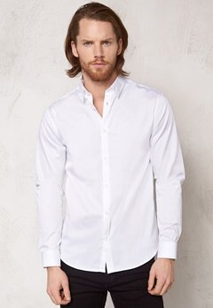 SELECTED HOMME One Travistbelfast Shirt White Bubbleroom.fi