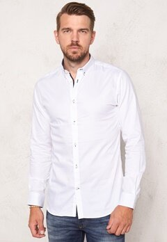SELECTED HOMME Onemark Shirt LS White Bubbleroom.fi