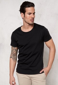 SELECTED HOMME Pima New Dave ss T-shirt Black Bubbleroom.fi
