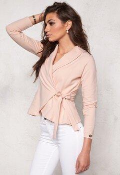 Chiara Forthi Short Jersey Wrap Cardi Pink Bubbleroom.se