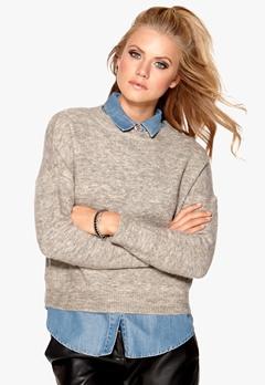 Sisters Point Anda knit Grey/Sand melange Bubbleroom.se